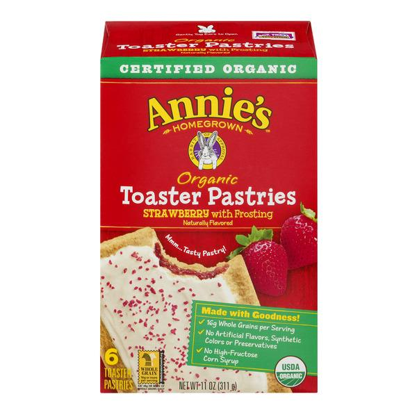 Annie's Homegrown Organic Toaster Pastries Strawberry with Frosting - 6 CT