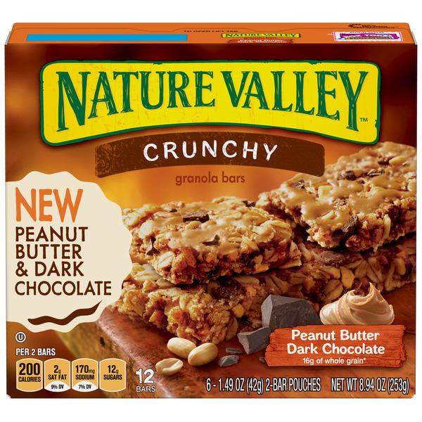 Nature Valley Crunchy Peanut Butter Dark Chocolate Granola Bars 6-1.49 oz Bars