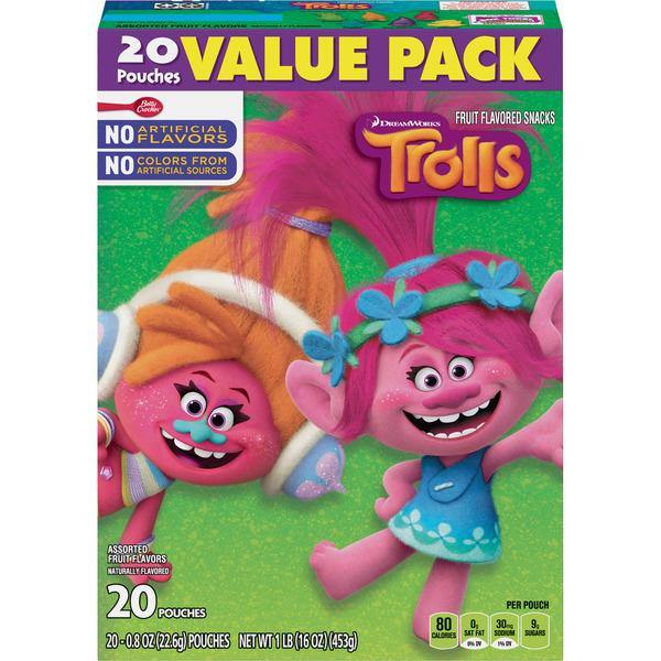 Betty Crocker Trolls Assorted  Fruit Flavored Snacks 20-0.8 oz Pouches