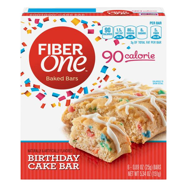 Amazing Fiber One 90 Calorie Birthday Cake Baked Bar 6 89 Oz Bars Hy Personalised Birthday Cards Paralily Jamesorg