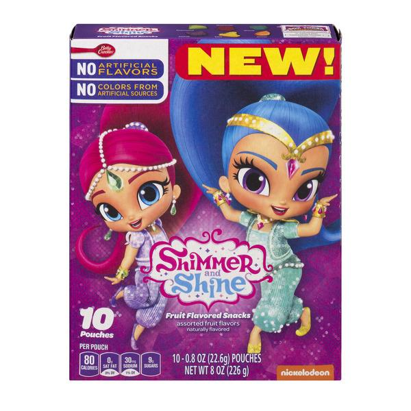 Betty Crocker Shimmer and Shine Fruit Flavored Snacks - 10-0.8 oz Pouches