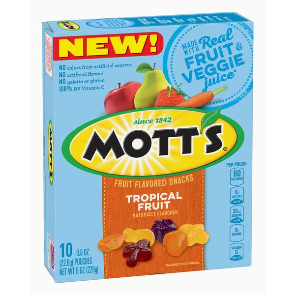 Mott's Tropical Fruit Fruit Flavored Snacks 10-0.8 oz Pouches
