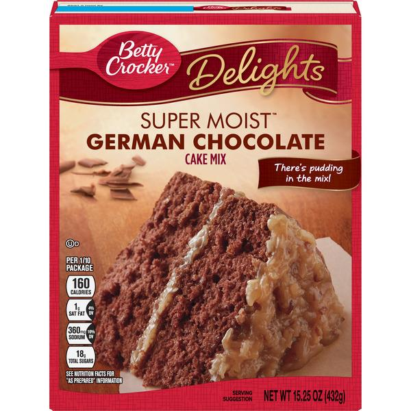Betty Crocker German Chocolate Cake Mix Nutrition Facts