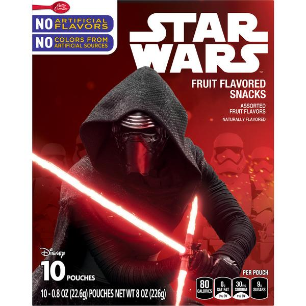 Betty Crocker Star Wars Fruit Flavored Snacks 10Ct