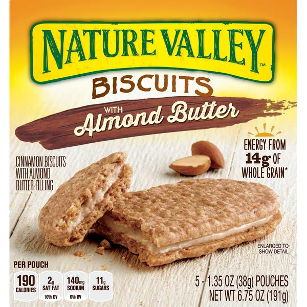Nature Valley Biscuits with Almond Butter 5-1.35 oz Pouches