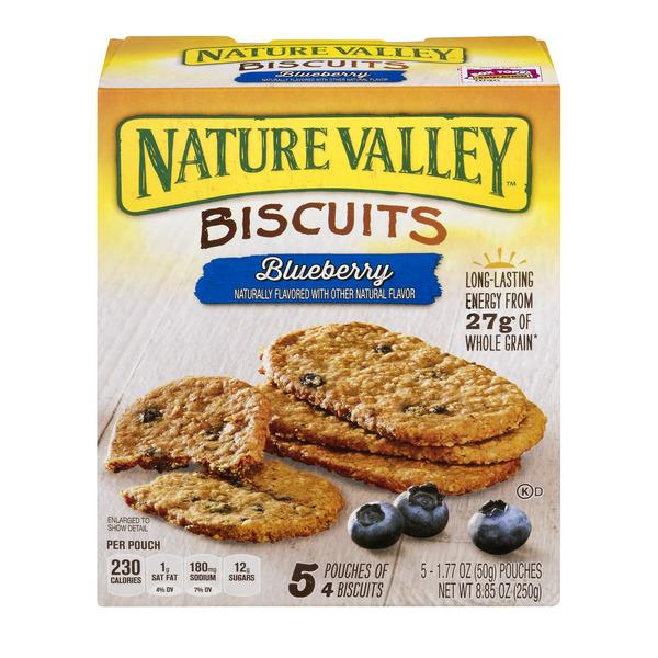 Nature Valley Blueberry Breakfast Biscuits 5-1.77 oz Pouches