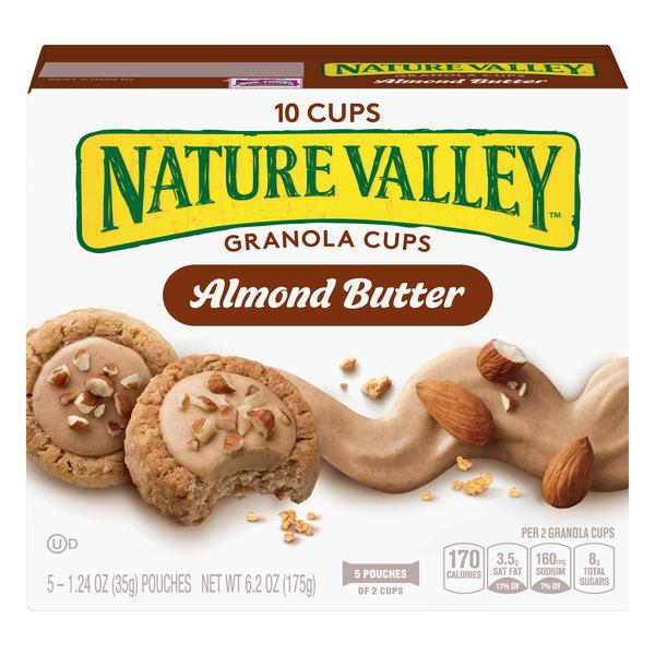 Nature Valley Almond Butter Granola Cups 5-1.24 oz Pouches