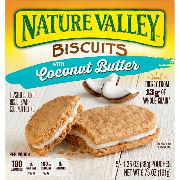 Nature Valley Biscuits With Coconut Butter 5-1.35 oz Pouches