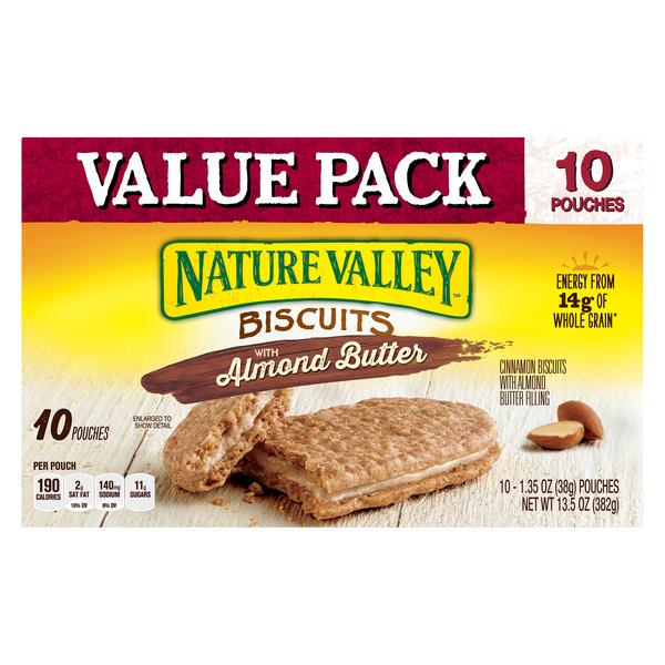 Nature Valley Biscuits With Almond Butter 10-1.35 oz Pouches