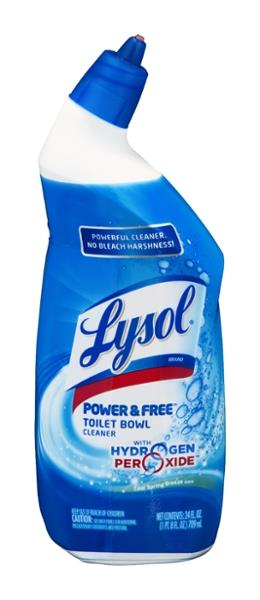Lysol Toilet Bowl Cleaner, With Hydrogen Peroxide, Cool Spring Breeze Scent