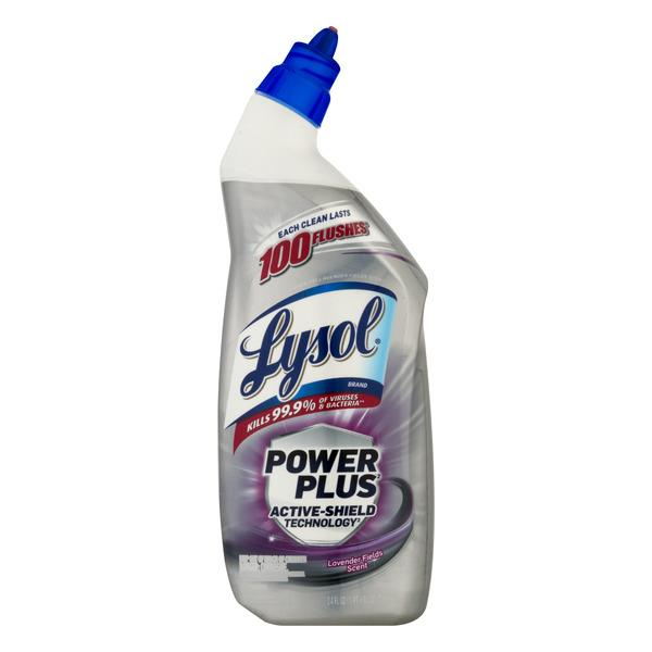 Lysol Lavender Fields Active-Shield Technology Power Plus Toilet Bowl Cleaner