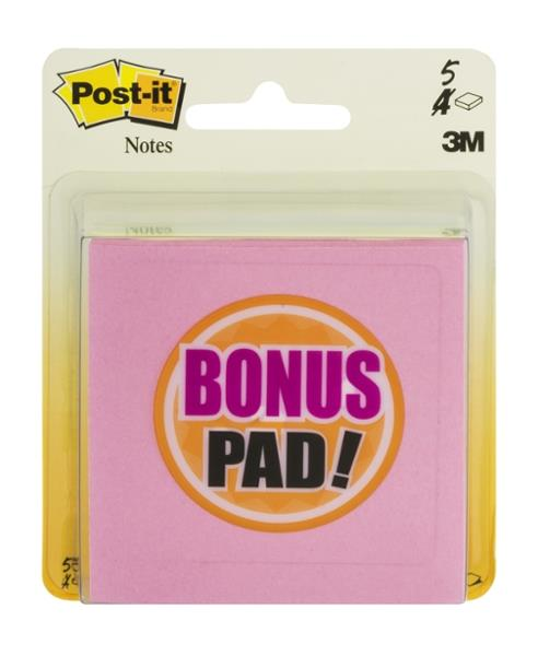 Post-it Multi-Colored 3x3 Note Pads 4Pk