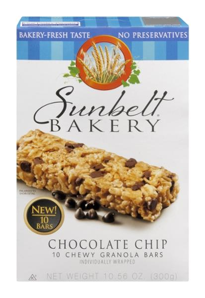 Sunbelt Bakery Chocolate Chip Chewy Granola Bars 10Ct