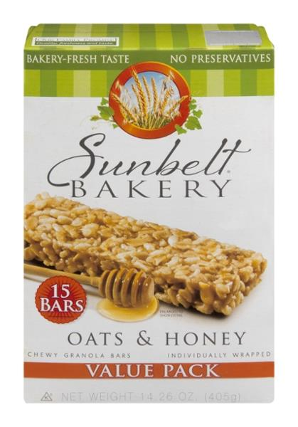 Sunbelt Bakery Oats & Honey Chewy Granola Bars Value Pack 15Ct