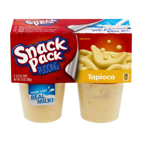Snack Pack Tapioca Pudding Cups 4-3.25 oz Cups