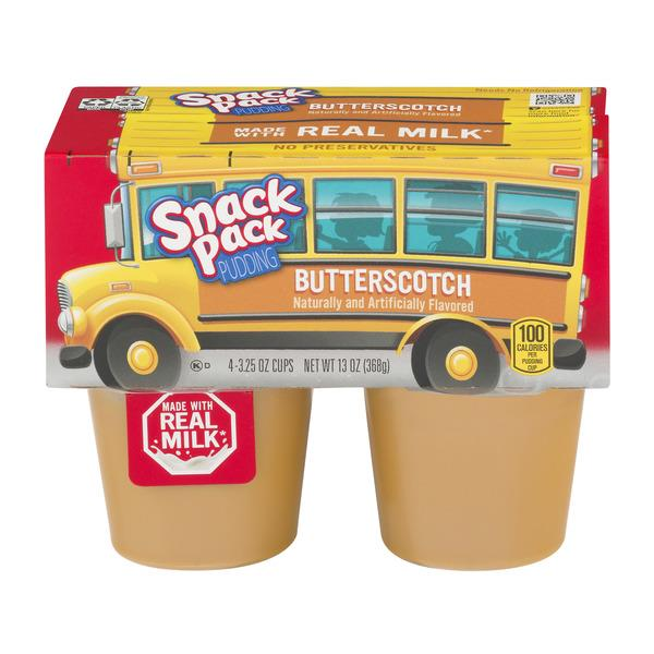 Snack Pack Butterscotch Pudding Cups 4-3.25 oz Cups