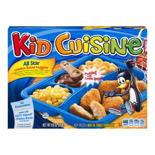 Kid Cuisine All Star Chicken Breast Nuggets Frozen Dinner