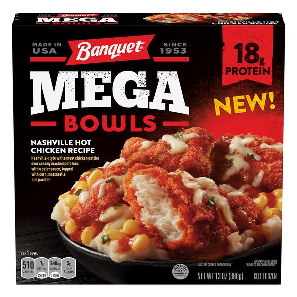 Banquet Mega Bowls Nashville Hot Fried Chicken
