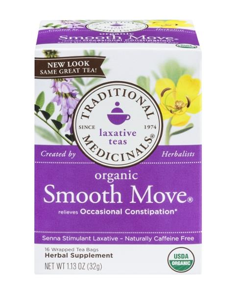 Traditional Medicinals Laxative Teas Organic Smooth Moves 16 Ct