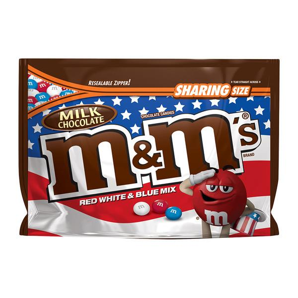 M&M's Milk Chocolate Red White & Blue Share Size