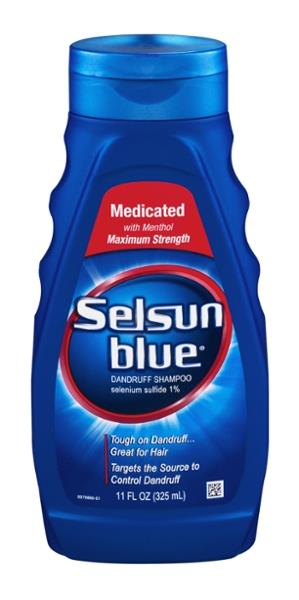 Selsun Blue Dandruff Shampoo Medicated With Menthol