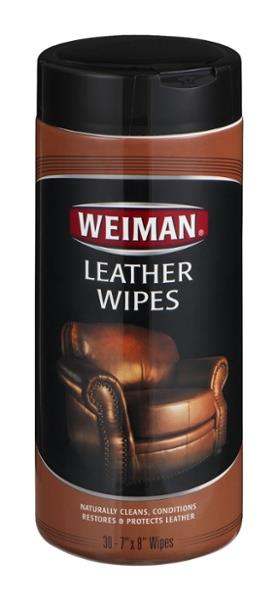 Weiman Leather Wipes 30Ct