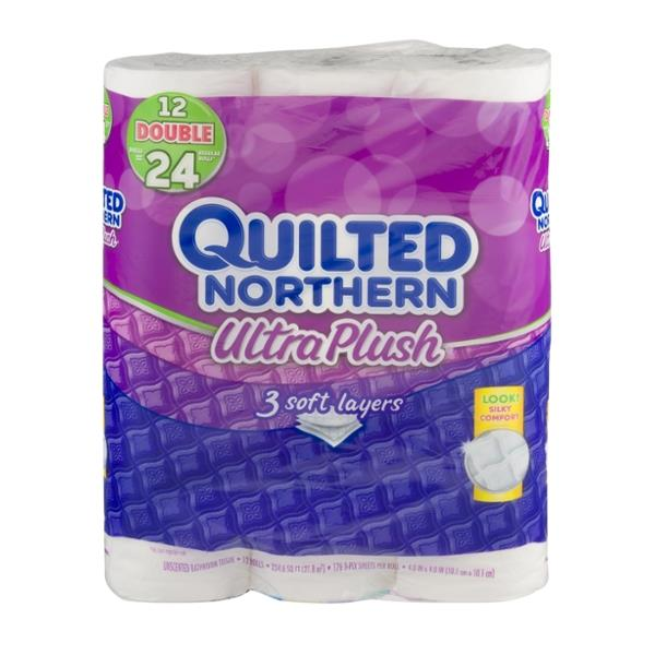 quilted northern ultra plush double 3 ply roll bathroom tissue hy vee aisles online grocery