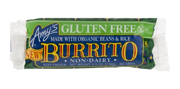 Amy's Gluten Free Non-Dairy Burrito with Organic Beans & Rice