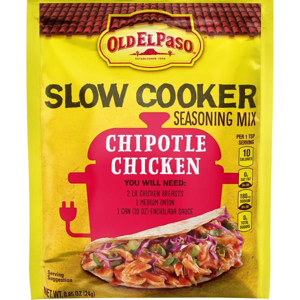 Old El Paso Slow Cooker Seasoning – Chipotle Chicken