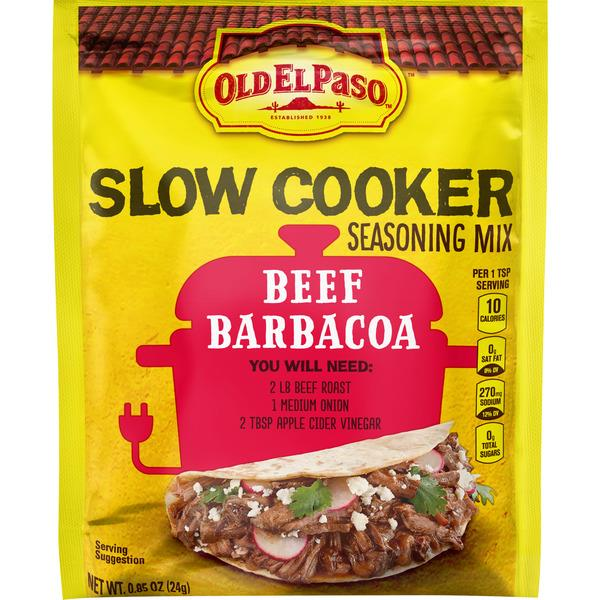 Old El Paso Slow Cooker Seasoning – Beef Barbacoa