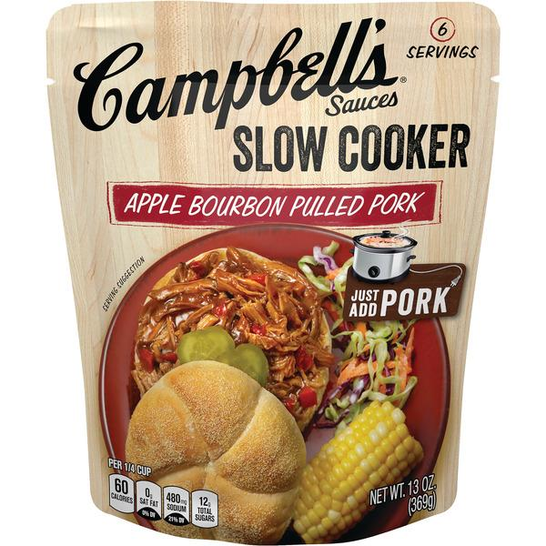 Campbell's Slow Cooker Sauces Apple Bourbon Pulled Pork