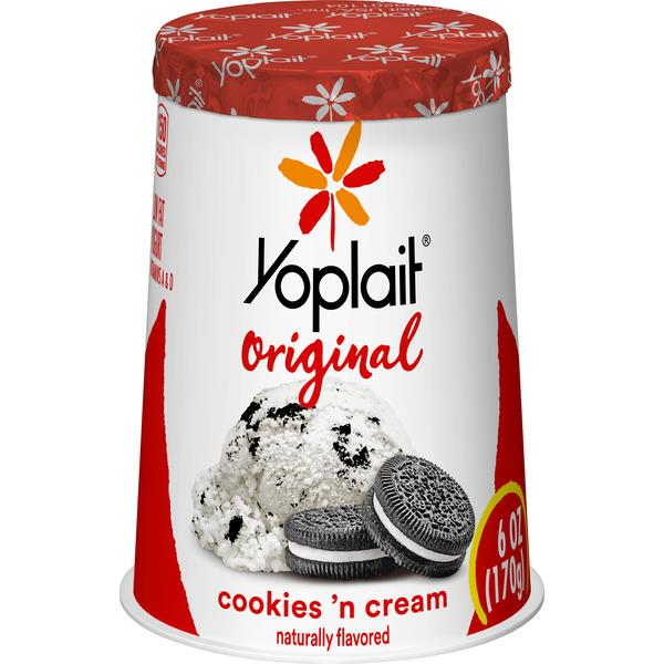 Yoplait Original Cookies 'n Cream Low Fat Yogurt