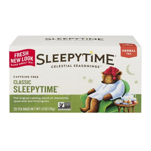 Celestial Seasonings Caffeine Free Classic Sleepytime Herbal Tea Bags 20 Count