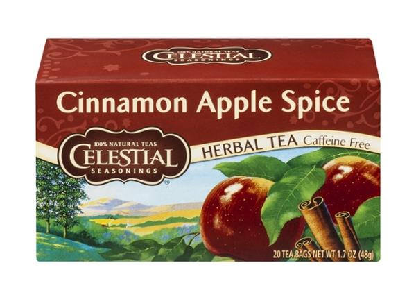 Celestial Seasonings Herbal Tea Caffeine Free Cinnamon Apple Spice 20 Count