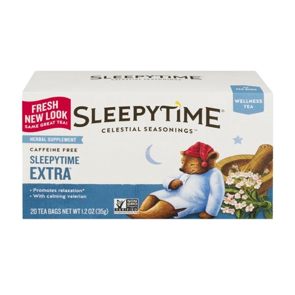 Celestial Seasonings Sleepytime Extra Caffeine Free Wellness Tea 20 Count