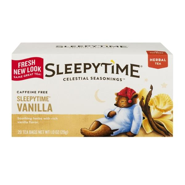 Celestial Seasonings Caffeine Free Sleepytime Vanilla Herbal Tea Bags 20 Count