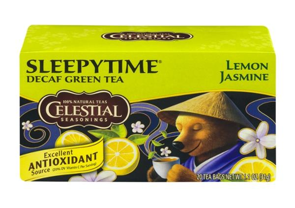 Celestial Seasonings Sleepy Time Decaf Tea Lemon Jasmine 20 Count