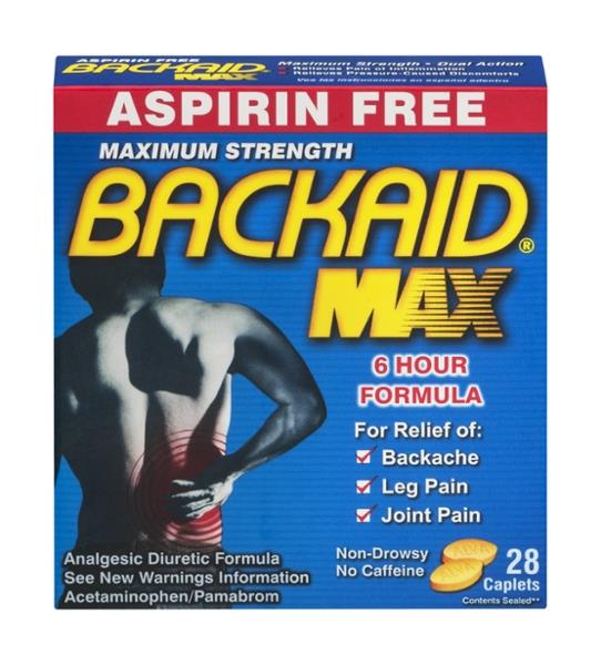 Backaid Max Acetaminophen