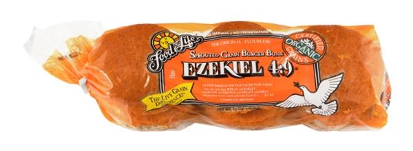 Food For Life Ezekiel 4:9 Sprouted Grain Burger Buns 6Ct