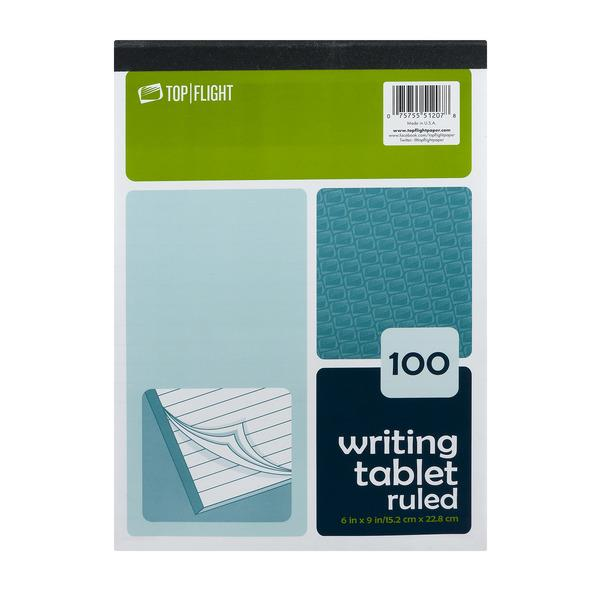 Top Flight 100 Writing Tablet Ruled