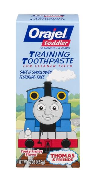 Orajel Tooty Fruity Thomas Amp Friends Training Toothpaste