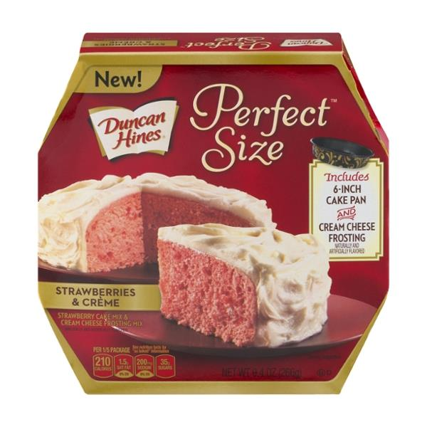 Duncan Hines Perfect Size Strawberries & Creme Cake & Frosting Mix ...