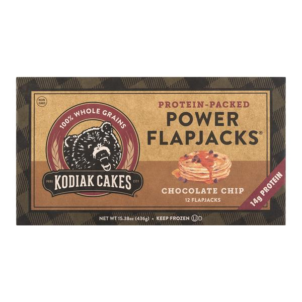 Kodiak Cakes 100% Whole Grains Protein Packed Power Flapjacks Chocolate Chip 12Ct