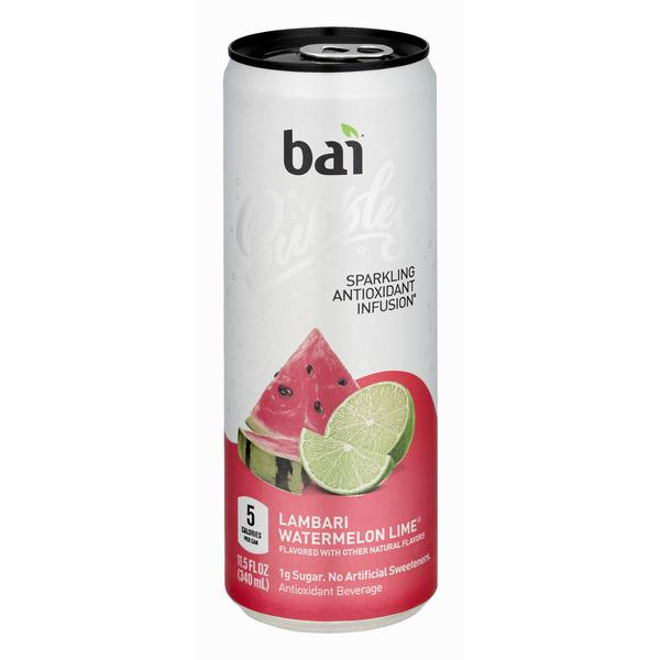 Bai Bubbles Lambari Watermelon Lime, Sparkling Antioxidant Infused