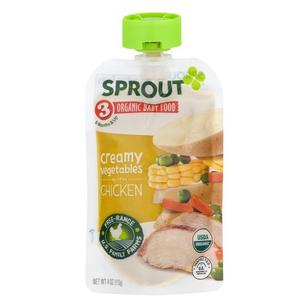 Sprout Organic 3 Baby Food Creamy Vegetables With Chicken