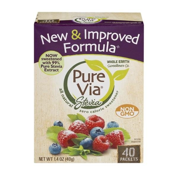 pure via stevia zero calorie sweetener hy vee aisles online grocery shopping. Black Bedroom Furniture Sets. Home Design Ideas