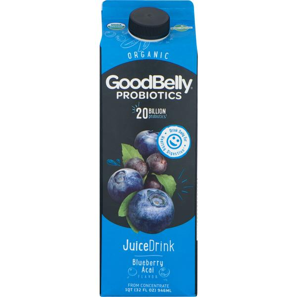 GoodBelly Probiotics JuiceDrink Blueberry Acai